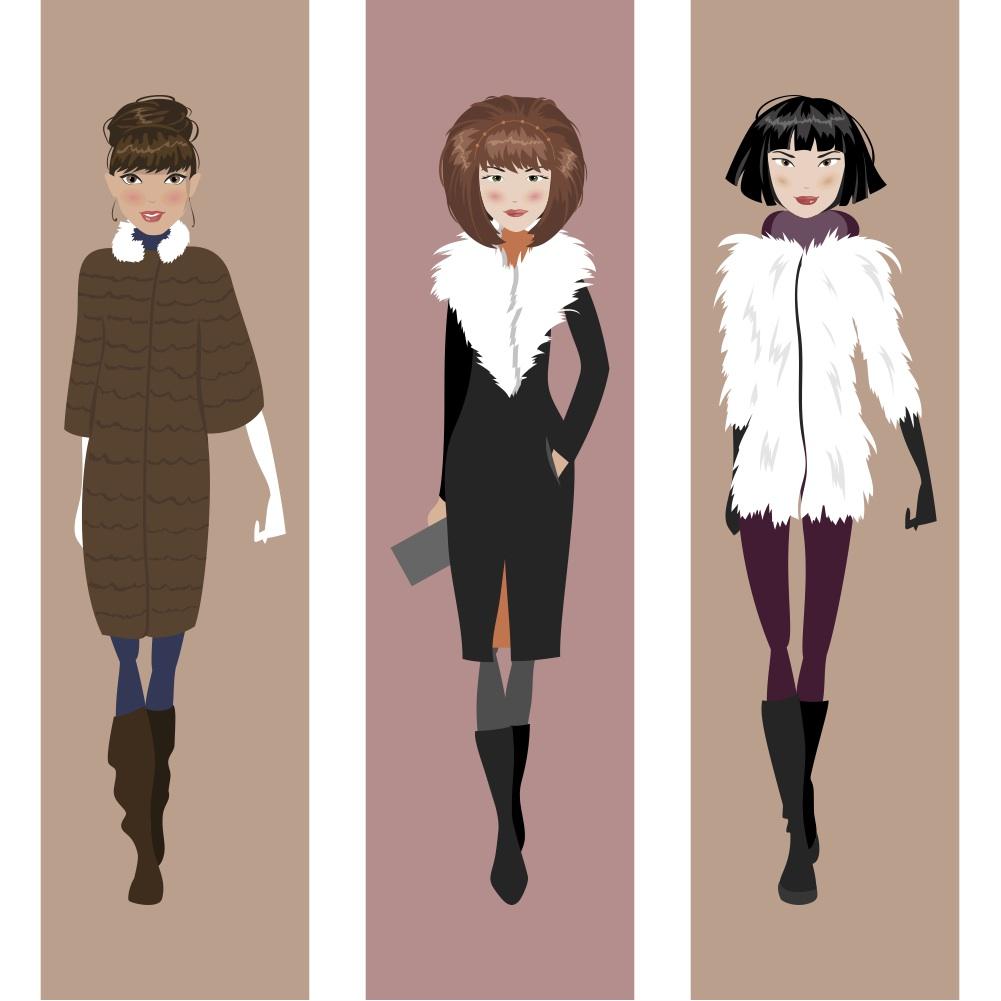 style springs eternal: three girls in fur